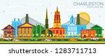 charleston south carolina city... | Shutterstock .eps vector #1283711713