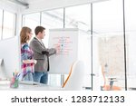 creative colleagues discussing...   Shutterstock . vector #1283712133
