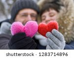 smiling middle aged couple... | Shutterstock . vector #1283714896