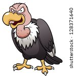 Illustration Of Cartoon Vulture