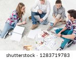 business colleagues discussing...   Shutterstock . vector #1283719783