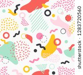 creative seamless pattern with... | Shutterstock .eps vector #1283720560