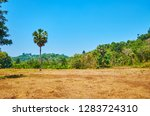 agricultural lands among the... | Shutterstock . vector #1283724310