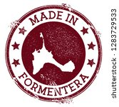 made in formentera stamp.... | Shutterstock .eps vector #1283729533