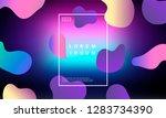 colorful minimalistic geometric ... | Shutterstock .eps vector #1283734390