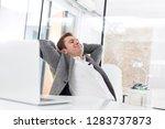 creative businessman resting at ...   Shutterstock . vector #1283737873