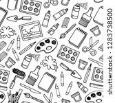 artist tools sketch vector... | Shutterstock .eps vector #1283738500