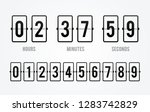 vector flip board countdown... | Shutterstock .eps vector #1283742829