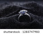 diamond shape silver ring with...   Shutterstock . vector #1283747983