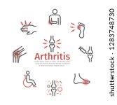 arthritis banner. symptoms ... | Shutterstock .eps vector #1283748730