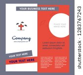 grave company brochure template.... | Shutterstock .eps vector #1283767243