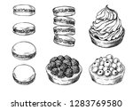 set of delicious hand drawn... | Shutterstock .eps vector #1283769580