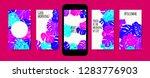 stories template design. tropic ... | Shutterstock .eps vector #1283776903