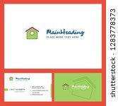 dog house  logo design with...   Shutterstock .eps vector #1283778373