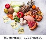 trendy pegan diet. paleo and...   Shutterstock . vector #1283780680