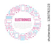electronics circle poster with... | Shutterstock .eps vector #1283782123