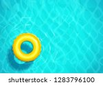 swimming pool with rubber ring... | Shutterstock .eps vector #1283796100