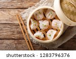 homemade dumplings dim sum with ... | Shutterstock . vector #1283796376