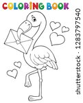 Coloring Book Flamingo With...