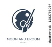 moon and broom icon vector on... | Shutterstock .eps vector #1283798059