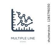 multiple line icon vector on... | Shutterstock .eps vector #1283798350