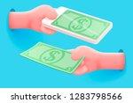 vector site banner concept  ... | Shutterstock .eps vector #1283798566