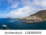 panorama of garachico in... | Shutterstock . vector #128380004