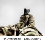 first person view shooting... | Shutterstock . vector #1283800849