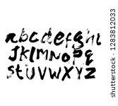 dry brush alphabet font set... | Shutterstock .eps vector #1283812033