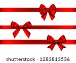 red  gift  bows set  isolated... | Shutterstock .eps vector #1283813536