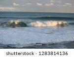 waves in a ocean swim to shore   Shutterstock . vector #1283814136