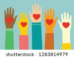 share your love. hands with... | Shutterstock .eps vector #1283814979