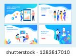color vector templates for web... | Shutterstock .eps vector #1283817010