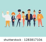 business characters  team ... | Shutterstock .eps vector #1283817106