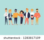 business characters  team ... | Shutterstock .eps vector #1283817109