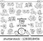 black and white cartoon... | Shutterstock .eps vector #1283818456