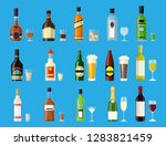 alcohol drinks collection.... | Shutterstock .eps vector #1283821459