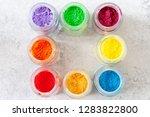 bright colourful powdered...   Shutterstock . vector #1283822800