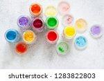 bright colourful powdered...   Shutterstock . vector #1283822803