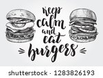 keep calm and eat burgers.... | Shutterstock .eps vector #1283826193
