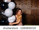 stylish elegant luxury woman in ... | Shutterstock . vector #1283830210