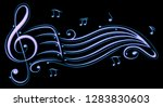 music  clef with sheet music.... | Shutterstock . vector #1283830603