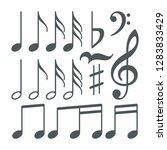 set of musical notes | Shutterstock . vector #1283833429
