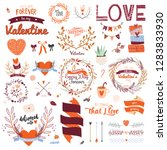 collection of valentines day... | Shutterstock .eps vector #1283833930