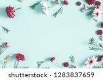 flowers composition. eucalyptus ... | Shutterstock . vector #1283837659