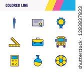 illustration of 9 education... | Shutterstock . vector #1283837833