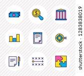 vector illustration of 9 trade... | Shutterstock .eps vector #1283838019