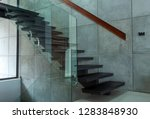 staircase in modern villa and... | Shutterstock . vector #1283848930