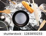 baking background with bread ... | Shutterstock . vector #1283850253