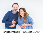 beautiful middle age couple in... | Shutterstock . vector #1283850640
